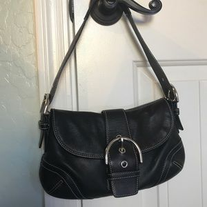 Small Coach black shoulder bag